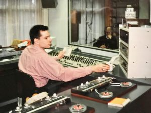 Rob in ZOS studio, 1992